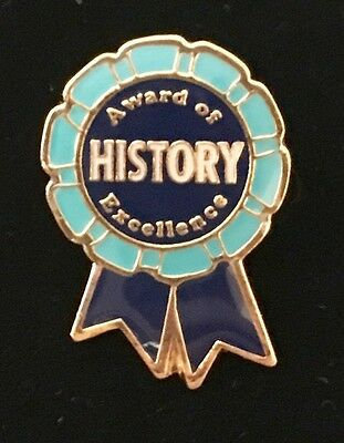 """""""Award of HISTORY Excellence"""" Enamel Lapel Pins, Lot of 20, All New!"""