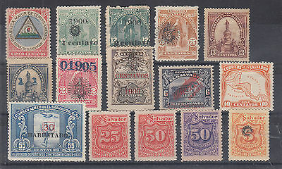 Salvador Sc 176//J60 MHR. 1897-1937 issues, 15 diff sound OG singles