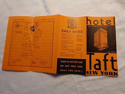 VINTAGE + HOTEL TAFT + New York early 1930s  + NOS