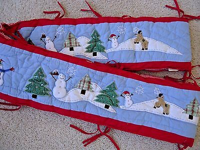 Pottery Barn Kids Crib Bumper Pad Winter Christmas Holiday