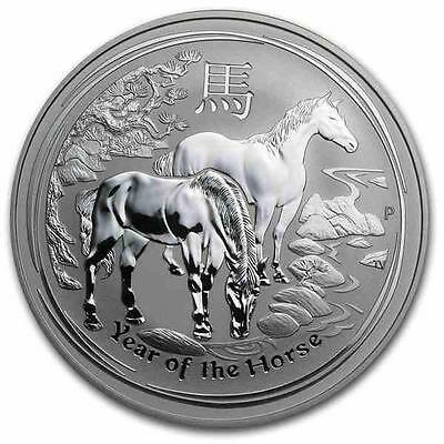 New 2014 Australian Silver Year of The Horse 1oz Coin - Encapsulated by the Mint