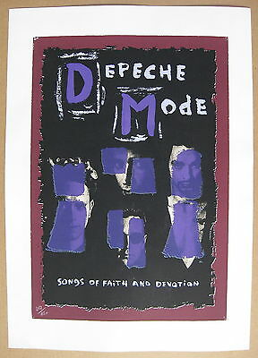 DEPECHE MODE Songs Of Faith And Devotion 1993 Promo POSTER Lithograph #282/650