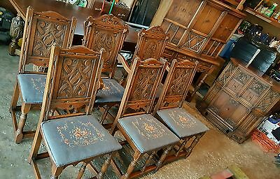 Grand Rapids Lifetime Furniture,Early 1900's,9 pc set,Cast Iron Inlays! ,nd GONE