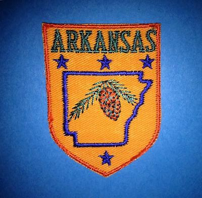 Vintage 1970's Arkansas Hat Jacket Biker Vest Backpack Travel Patch Crest A