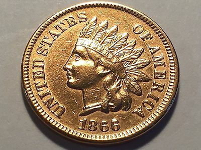 1866 Indian Head Cent * Penny * High Grade #2 *