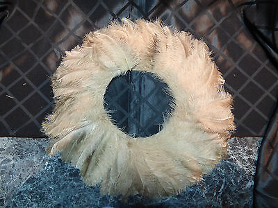 Vintage Tan Feathers Collar -- Complete