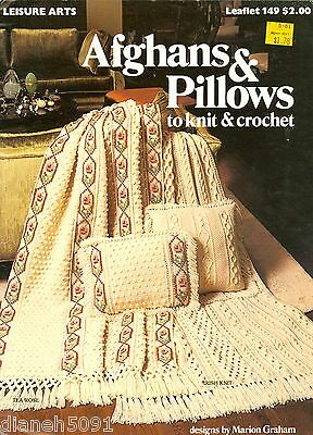 Afghans & Pillows Knitting &  Crochet Pattern Book