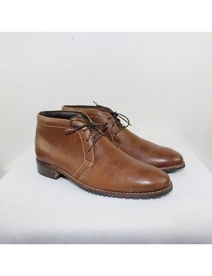 COLE HAAN Men's Pebble Leather Ankle Boots Size 11M