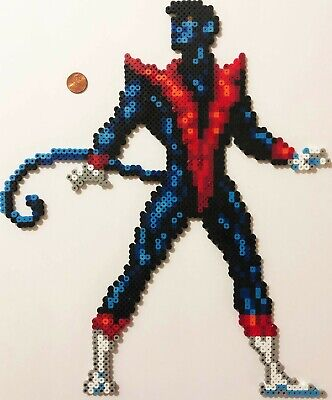 Nightcrawler Bead Sprite Perler Art X-Men Marvel Comics Super Hero Blue