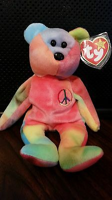 Peace Ty  Beanie Baby - Pristine - MWMT - No errors -Beautiful colors