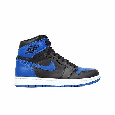 "2017 Nike Air Jordan Retro 1 ""Royal"" (Black/Royal/Black) 555088-007 Men's Shoes"