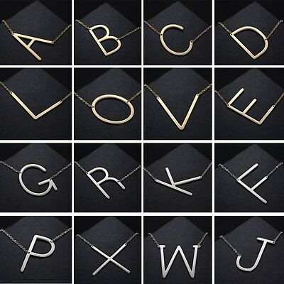 Fashion Women Men Large Initial Personalized Necklace Oversized Letter Alphabet