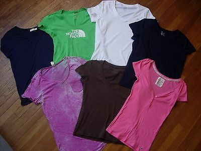 Lot Of 7 Women's Pullover Knit Shirts/tops Size Medium