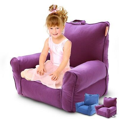Kids Bean Bag Sofa Beanbag Cover Children Reading Relaxing Sofa Chair Bed Purple