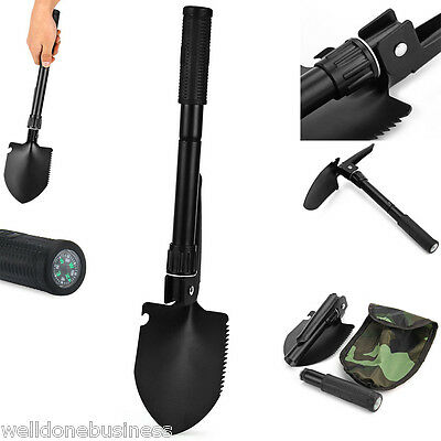 Portable Mini Military Folding Shovel Survival Spade Entrenching Tool with Pouch