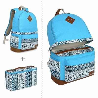 Women's Cute Canvas DSLR Camera Bag Padding Case Backpack For Canon 5D 60D 5D2