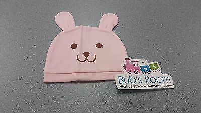 Baby's Cotton Rabbit Beanie Hat  ~ EASTER ~ PINK ~ New Born