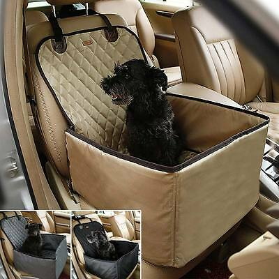 Waterproof Dog Pet Car Carrier Carry Bag Booster Seat Cover 2 in 1 Bucket Basket