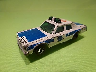 Matchbox Plymouth Gran Fury - Police - White 1:60? - Good Condition