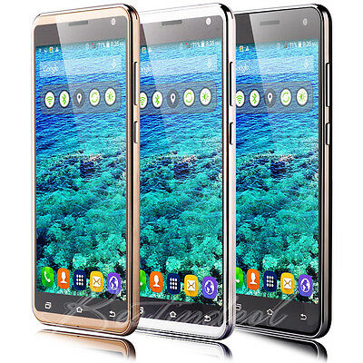 """5.5"""" Touch Unlocked Android Mobile Phone GPS Smartphone Quad Core 2SIM 3G GSM"""