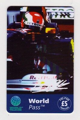 Johnny Herbert Sauber Petronas Phone Card