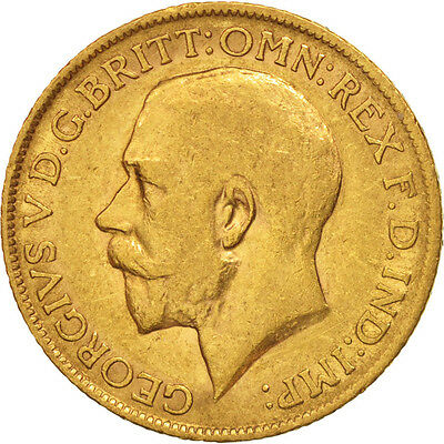 [#506163] Great Britain, George V, Sovereign, 1915, EF(40-45), Gold, KM:820