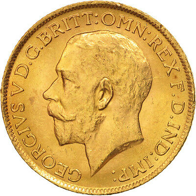 [#506159] Great Britain, George V, Sovereign, 1913, MS(63), Gold, KM:820