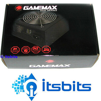 GAMEMAX 500W ATX POWER SUPPLY 120MM SILENT FAN 3x SATA & 2x MOLEX + 6 PIN VIDEO