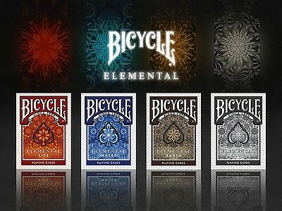 CARTE DA GIOCO  BICYCLE ELEMENTAL WATER, EARTH,WIND & FIRE EDITION,poker size