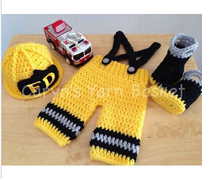 Newborn Baby Girls Red Crochet Knit Costume Photo Photography Prop Outfits #20