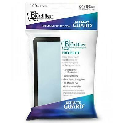 Ultimate Guard Bordifies Sleeves Precise-fit 64 x 89mm 100ct Trading Card