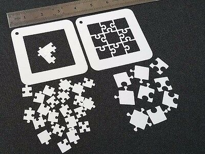 Lot of 2pcs JIGSAW PUZZLE 25 Pieces and 9 pcs Two Different Styles Mylar Stencil