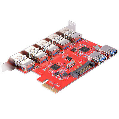5 Ports PCI-E to Interface USB 3.0 Expansion Card PCI-Express Card Adapter AC581