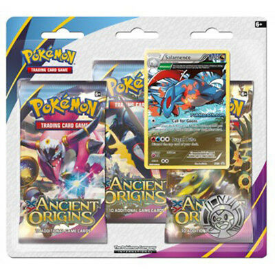 Pokémon TCG Ancient Origins 3 Pack Blister - 3 Booster Pack included, Salamence
