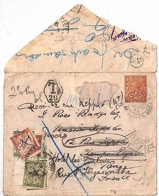 AU72 1933 GB *GOSPORT* Hampshire Cover France {samwells-covers}PTS