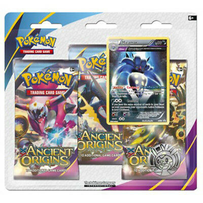 Pokémon TCG Ancient Origins 3 Pack Blister - 3 Booster Pack included, Malamar