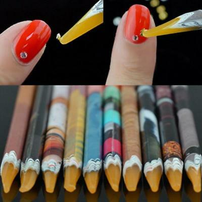 NEW Wax Resin Pencil Rhinestone Picker Up Gem Jewel Bead Nail Art Craft Tool Pen