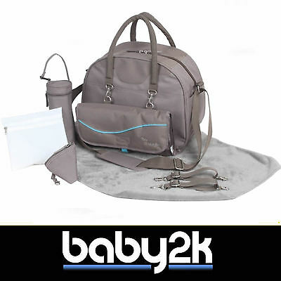 Bo Jungle B-City Baby Nappy Nursery Changing Bag in Taupe with Free Extras BN