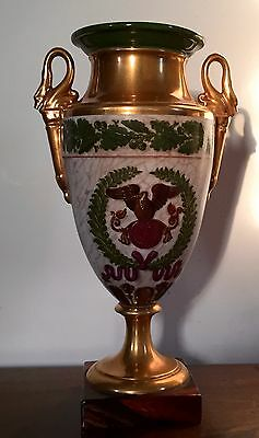 Antique 19th c. Old Paris Porcelain Vase Urn Napoleon Lefebvre Rue Amelot 1810