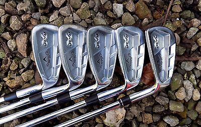 Set of 5 x Callaway RAZR X Forged Irons 6-PW Rifle 6.0 Steel Shafts