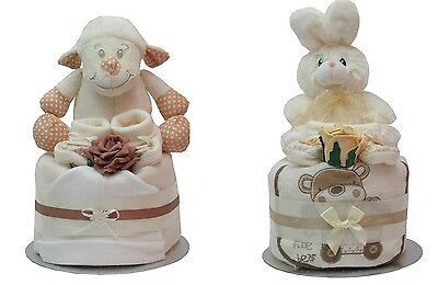 Baby boy/girl /unisex neutral nappy cake baby shower  gift fast delivery bunny