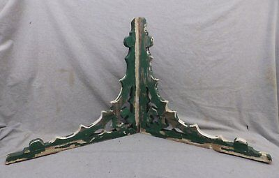 Antique Pair Wood Corbels Shabby Cottage Chic Gingerbread Vintage 258-17R
