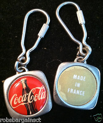 Coca Cola Key Chain From France Rare Vintage Drink Coke