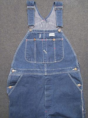 Men's Carpenters Style DICKIES 100% Cotton Denim Overalls / Coveralls ~ 36 x 30