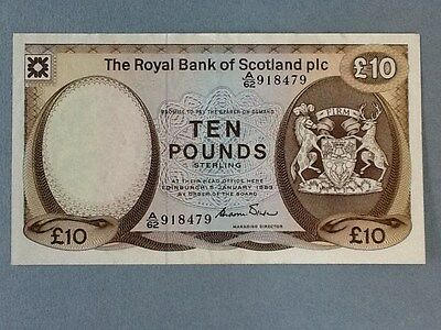 Scotland 10 Pounds P-343-A  in EF condition