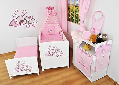 NEW WHITE 2in1 COT-BED 140 x 70 WITH 12-PIECE BEDDING no 20 - MATTRESS FOR FREE