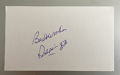 Ron Springett Autograph Signed 5X3 England 1966 World Cup Card