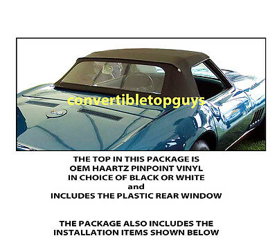 Chevrolet Corvette Convertible Top Do It Yourself Package 1968-1975