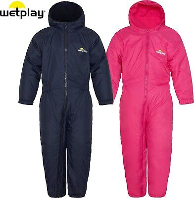 Wetplay Kids Padded All-In-One Waterproof Rain Suit Snowsuit Childs Boys Girls