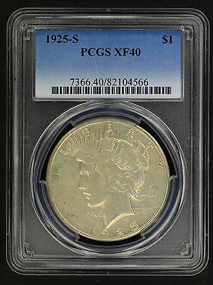 1925-S Silver Peace Dollar PCGS XF-40 -156138